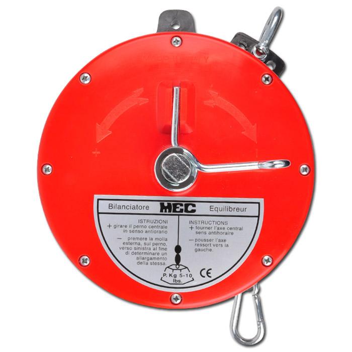 "Equilibreur à ressort ""BS2"" - charge 5-10 kg - câble nylon ou Rilsan/inox"