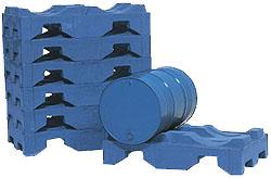 Fasspalette - für 2 Fässer - 1300x790x300 mm