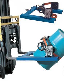 """Barrel grab """"SV type"""" load 300 kg forklift attachment"""