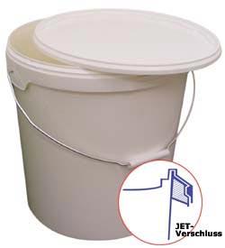 """Kunststoffeimer 2,3 Liter - Farbe weiß - rund - """"Jokey-Euro-Tainer"""" - Typ JET 23"""