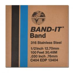 "Metal band ""Band-it"" - VA - strength to 0.76 mm - width 3/8 "" to 3/4"" - length 30.5 m"