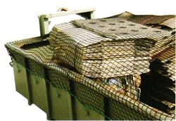Restposten - Abdecknetz für Container - Maschenweite 45 mm - Materialstärke 3 mm - Netzgröße 3 x 7 m
