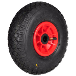 Pneumatic Tyres - Capacity 50-250 kg - Profile Rib, Block, Military With Plastic