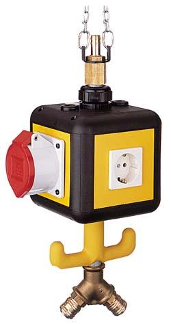 Energie-Versorgungs-Gondel - Type VE 3 - 1.0m Druckluftrohr mit Luftanschluss un