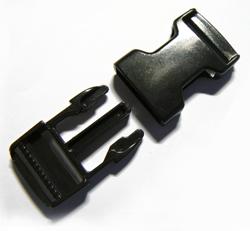 Spänne - plast - för bandet bredd 25 mm