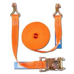 Cinghia di fissaggio - due parti - larghezza 35 mm - 1000 daN - con cricchetto