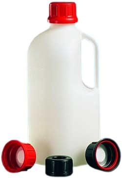FN-smal hals flaskor serie 310 HDPE Safe Grip - svart - utan tillslutning