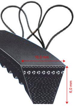 Klassisk kilrem - DIN 2215 - 10 x 6 mm