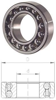 """Pendelkugellager zylindrisch - DIN 630 Lagerluft C3 """"vergrößert"""""""