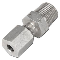 Klämringskoppling - rak - rostfritt stål - mycket lätt(LL) - tum (NPT)