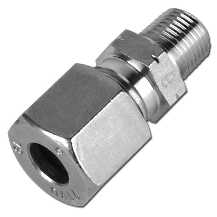 Klämringskoppling - rak - rostfritt stål - lätt (L) - tum (NPT)