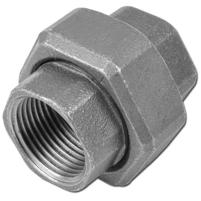 """Gerade Verschraubung Typ 330 - IG 1/4"""" bis 4"""" - EN 10242 - Material Temperguss schwarz oder verzinkt"""