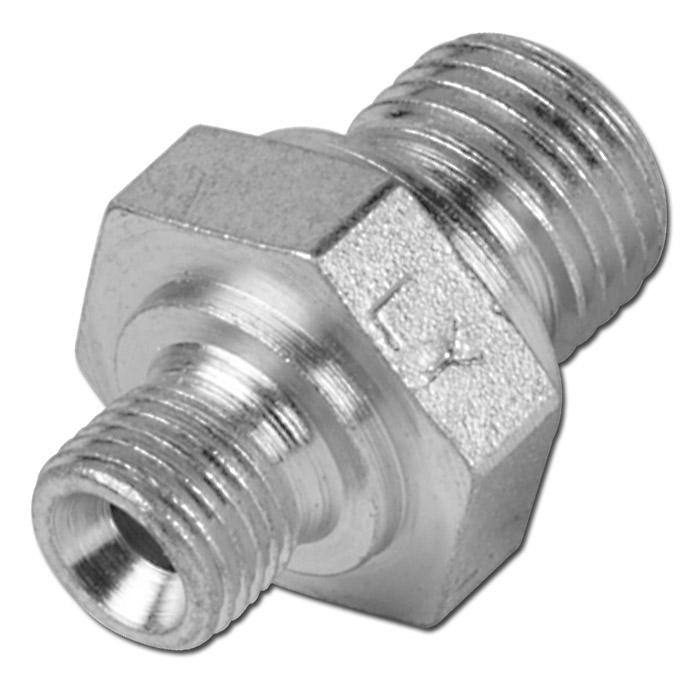 """Doppelnippel - Stahl verzinkt - AG/AG - 1/8"""" bis 2"""" - mit 60º Dichtkonus"""