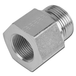 """Reducer - Steel - F / M (cylind.) - 1 / 8 """"to 1 ½"""" - galvanized - up to 630 bar"""