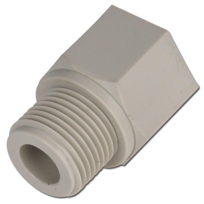Reduziernippel mit zylindrischem AG/IG Kunststoff