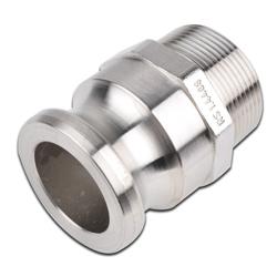 """Camlok koppling - typ F - Hane - Rostfritt stål - 1/2"""" - 6"""" utvändig gänga"""