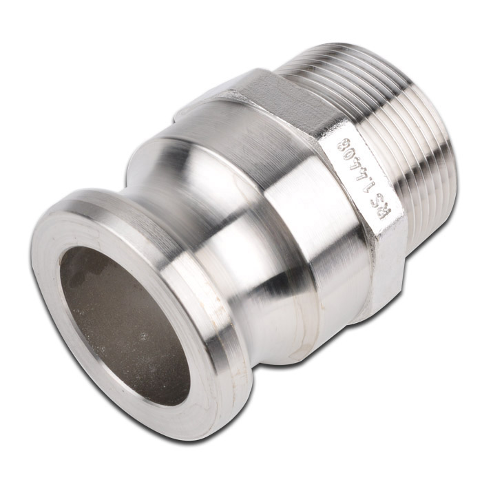 """Camlock Coupling Type F - Male Part - Stainless Steel - 1/2 """" To 6"""" Male - Up To - EN14420-7, Mil A-A-59326A"""