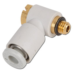 Connectors - 1x for hose to inner thread hexagon model KQ2V above - 90 ° Elbow