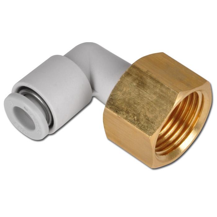Stickkoppling - 90° - för slang med Ø 4-12 mm - utvändig 6-kant