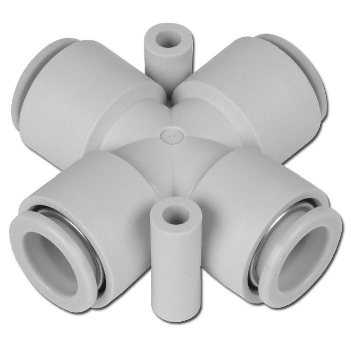 Stickkoppling - för slang-Ø 4-12 mm - för 4 slangar