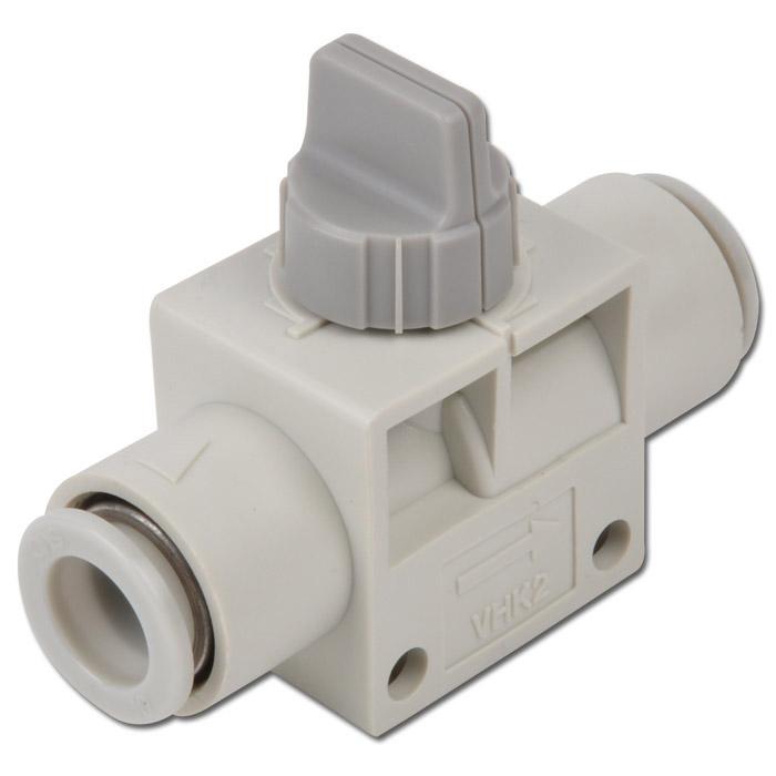 "Manual stop valve type ""VHK"" - PBT - 2/2-way - hose on hose"