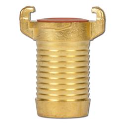 Klokoppling GEKA - för dricksvatten - mässing - slanganslutning