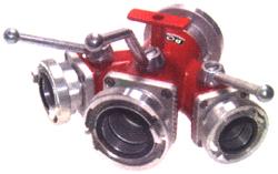 Storz-Verteiler-3-fach mit Kugelabsperrung