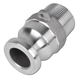 """Camlokkoppling - typ F - hane - aluminium - 1/2""""-8"""" utvändig gänga"""