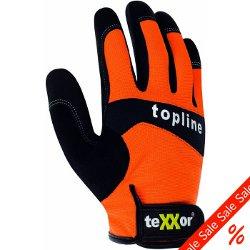 """Rester - konstläder handske """"teXXor"""" svart / orange - Gr. 7"""