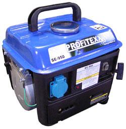 Notstromaggregat 0.65 kW - Modell: PROFITEXX SE-950 - Benzinmotor mit Handstarte