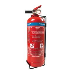 Vaahtosammutin - painemittarilla - paloluokka 5A, 55A - kapasiteetti 2 litraa - Mitat (Ø x H) 110 x 370 mm\n