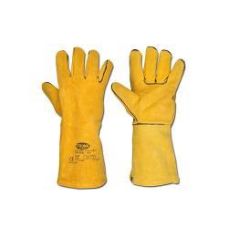 """Stronghand Schweißerhandschuhe """"S53 F""""- Spaltleder mit Baumwollfutter - Farbe braun (kann abweichen) - Norm  EN 388/Klasse 2132 Ausführung A"""