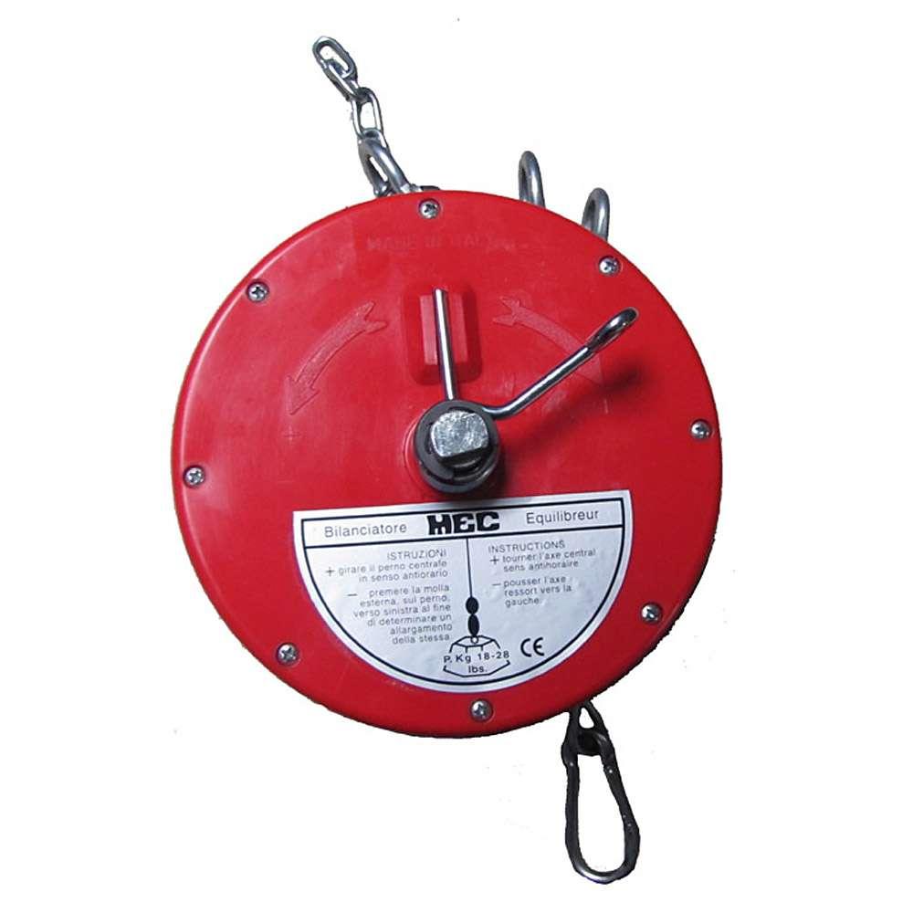 """Equilibreur à ressort """"BS5"""" - charge 19-26 kg - câble nylon ou Rilsan/inox - Ø câble 3,0 mm"""