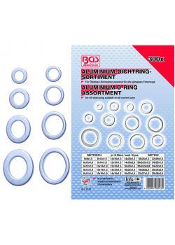 Sealing ring assortment - aluminum - 300 pcs.