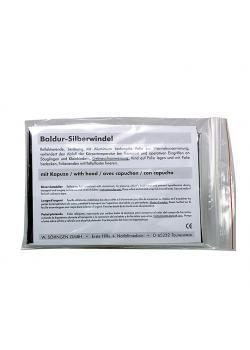 Baldur silveröverdrag - med luva - polyesterfilm