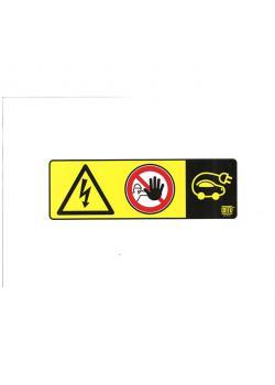 Anvisningsskylt - för kedjestolpar/sugkoppar - tillträde förbjudet