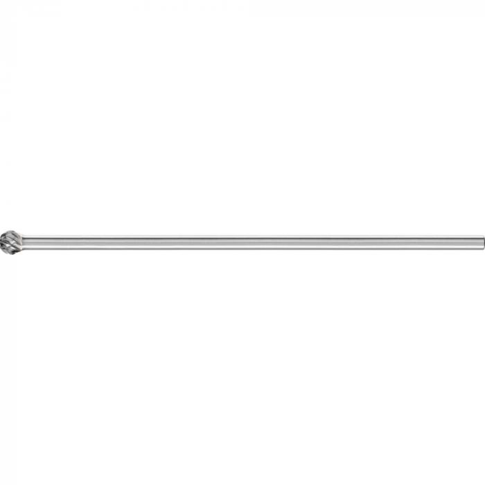 PFERD HM-Frässtift - Kugelform KUD - STEEL - Frässtift-Ø 10 und 12 mm - Schaft-Ø 6 mm - SL 150 mm