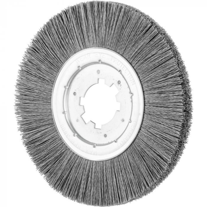 PFERD Rundbürste RBU - ungezopft - schmal - stationär - Kunststoffbesatz Siliciumcarbid (SiC) - Außen-ø 25 mm - Körnung 120 0,55 bis 320 0,55