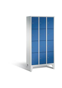 C+P Garderobenschrank Classic - Stahl - blau - H 1850 x B 900 x T 500 mm