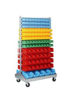 Stapelsichtbox-Fahrregal ProfiPlus Depot RHD 226 - mit 226 Stapelsichtboxen - Außenmaße (B x T x H) 1.200 x 730 x 2.040 mm