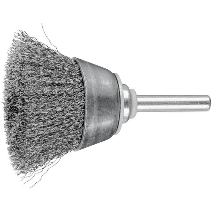 Topfbürste - PFERD - ungezopft, aus Stahldraht - mit Schaft - für Baustahl u.a.