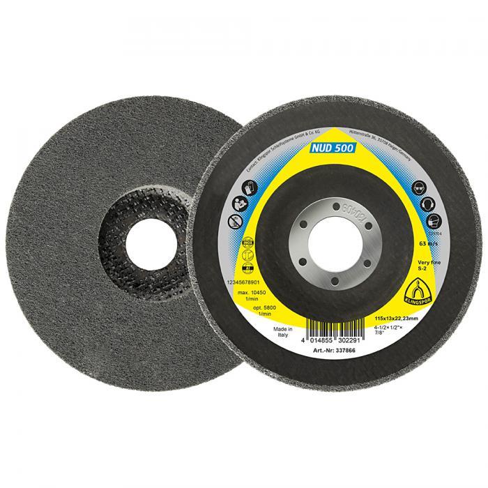 Kompaktscheibe NUD 500 - Durchmesser 115 bis 125 mm - Bohrung 22,23 mm