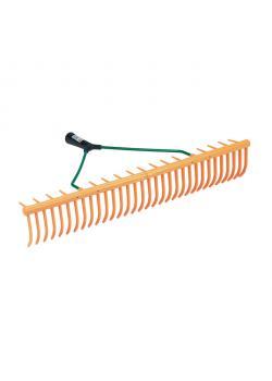 Kunststoff-Rasenrechen - Breite 64 cm - Stielhalter Ø 27 mm - 32 Zinken - ohne Stiel