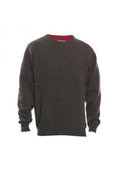 """Restposten - Jagd Pullover - Gr. L - dark elm (Color Code 383) - 86% Lammwolle, 12% Polyamid, 2 % Elasthan - Elbogen-Patches - Rundhalsausschnitt - """"Hastings"""""""