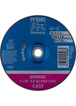 PFERD Trennscheibe E - Kombischeibe SG DUODISC CAST - Außen-Ø 230 mm - Breite 3,8 mm - Bohrungs-ø 22,23 mm - VE 10 Stück - Preis per VE