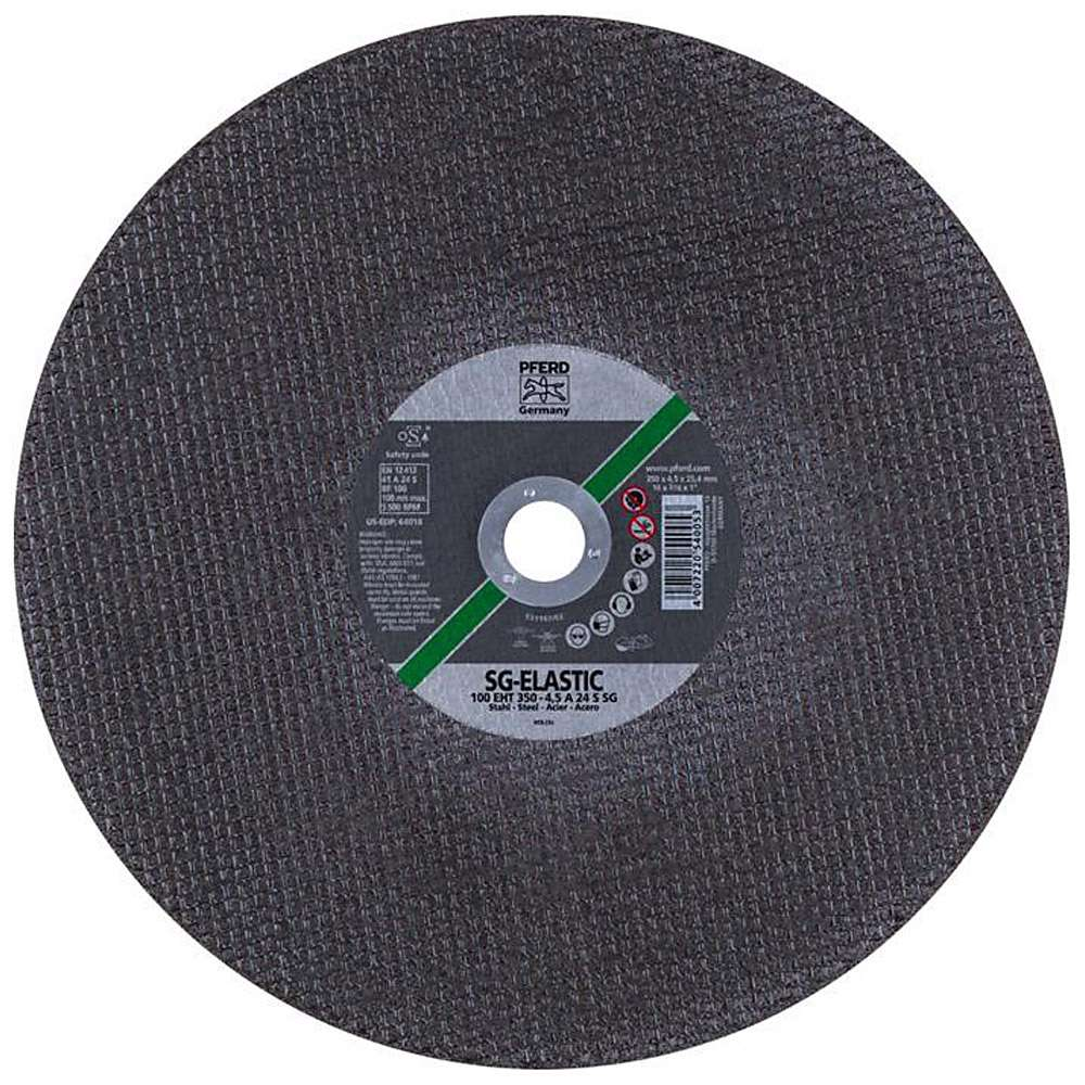 Skärande skiva - PFERD - för stål - hårdhet S - max. Rörelsehastighet 100 m / s