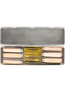 Feilen-Set - PFERD - 6 Schlüsselfeilen mit untersch. Profil - in Metallbox