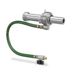 Nassstrahlkopf WBH komplett - 6 Bohrungen - direkter Wassernetzanschluss - für alle Standard-Strahldüsen - Innen-Ø 41,5 mm