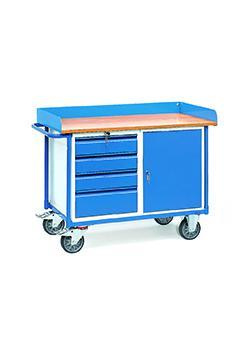 Carrello portautensili - 1 armadio e 4 cassetti - 400 kg