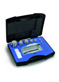Gewichtssatz F 2 - 11 Prüfgewichte - 1 g bis 2 kg - Knopfform - Edelstahl, feingedreht